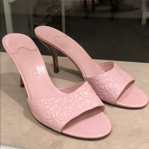 Chanel Light Pink Camellia Heels